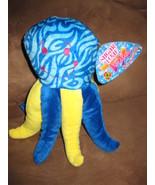 "OCTOPUS BLUE YELLOW Brand New Plush NWT Stuffed Animal w/ Tags 10"" SUGAR... - $7.99"