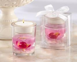 96 Pink Orchid Spring Flower Tea Light Candle Holder Bridal Wedding Favor - $227.95