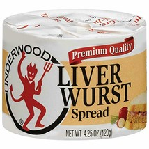 Underwood Premium Quality Liver Wurst Spread 4.25 oz ( Pack of 24 ) - $109.99