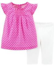 Carter's Baby Girls' Geo Top & Leggings 2 Piece Set Pink Size 18M MyAFC - $14.99