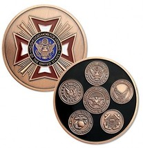 Military Challenge Coin U.S. Veteran Army Navy Air Force Marine Corps Coast Of - $25.11