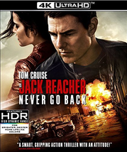 Jack Reacher: Never Go Back [4K Ultra HD + Blu-ray]
