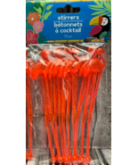 "Pink Flamingo Cocktail Drink Swizzle Sticks Stirrers 6"" - $5.93"