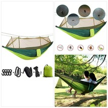Hieha Camping Hammock with Mosquito Net, Portable Double/Single Hammocks... - $36.40