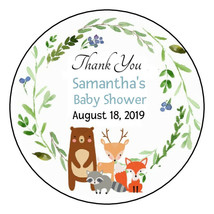 12 Woodland Forest Animals Stickers favors party deer baby bridal shower... - $4.99