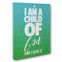 Child Of God Motivational Quote CANVAS Wall Art Home Décor - $28.22