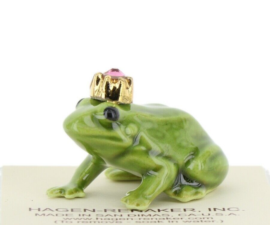 Birthstone Frog Prince October Simulated Tourmaline Miniatures by Hagen-Renaker