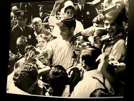 New York Yankee Great Joe DiMaggio 8x10 Photo with Fans MLB-HOF - $10.40