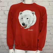 Vintage Tourist Destination Sweatshirt Alaska Polar Bear Hanes Rare 80's - $32.71