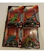 NEW Jurassic World Micro Collection Set of 4 T-Rex Dimetrodon Triceratop... - $12.60