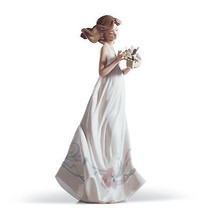 LLADRO woman lady flowers 01006777  BUTTERFLY T... - $345.95