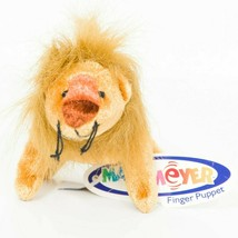 """Mary Meyer Lion Finger Puppet Plush 4"""" Tag Brown Soft Small Stuffed Anim... - $9.77"""