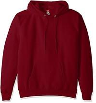 Hanes Men's Pullover EcoSmart Fleece Hooded Sweatshirt cardinal 4X Large - $19.61