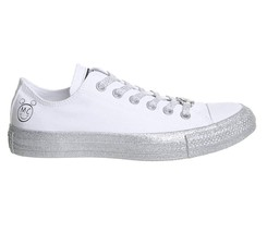 Women's Converse X Miley Cyrus CT ALL STAR OX, 162238C Mult Size White/P... - $79.95