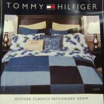Tommy Hilfiger Classics Patchwork Denim Blue Standard Sham - $46.00