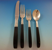 "Contrast by Lunt Sterling Silver Flatware Set 8 Service 32 PC ""G"" Monogram - $2,995.00"