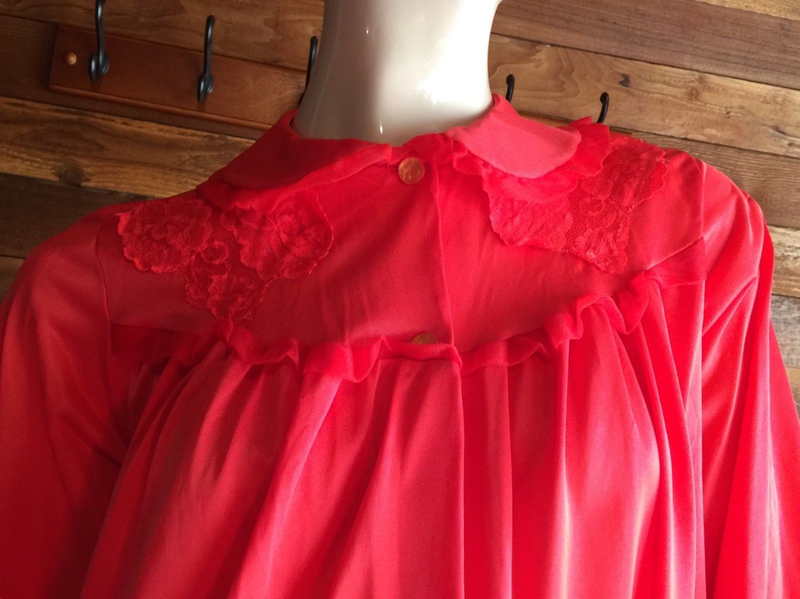 8b9d6c75db Vintage Lingerie 1970s Nancy King Red Size and 50 similar items