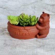 Winnie the Pooh Planter, Disney Animal Bear Redware Ceramic Plant Pot image 2