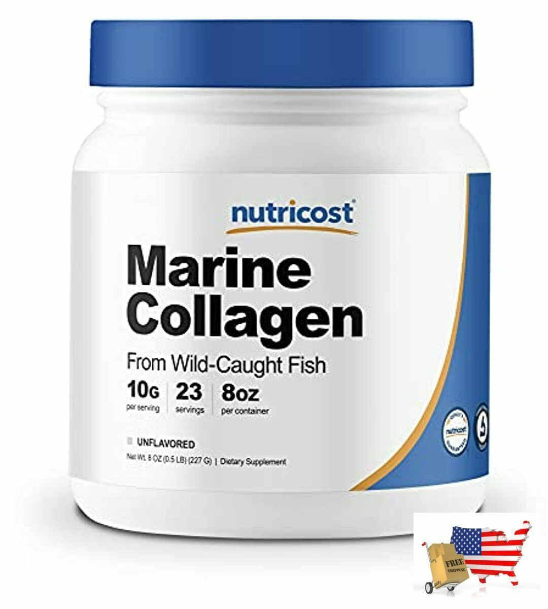 Nutricost Marine Collagen Peptides 8oz from Wild Caught Alaskan Fish, Premium, H - $41.55