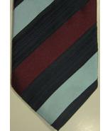 Neuf Ermenegildo Zegna Sarcelle Foncé Rouge et Noir Large Bandes Coton &... - $75.09