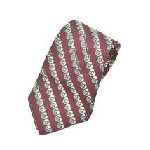Robert Talbott Best Of Class Swirl Leaves Burgundy Brown White Silk Tie ... - $14.84
