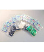 7 Pks Cup Sequins, Black, White, Silver, Green, 5mm, 10mm, Craft Embelli... - $4.99