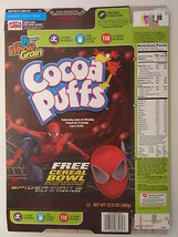 Empty GENERAL MILLS Cereal Box 2007 Cocoa Puffs SPIDER-MAN 3 [G7C1b] - $9.93