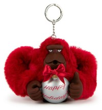 Kipling Happy Holiday's Large Monkey Keychain Ornament AC8594-659 SOPHIE... - $37.05