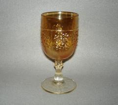 Vintage Fenton Orange Tree Carnival Glass Marigold Wine Goblet Stem - $62.62
