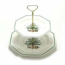 New In The Box Nikko Christmastime Two Tier Tray Handle - $64.34
