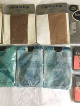 Vintage Lot 11 Collants Givenchy Silkies Collant Pur Contrôle Haut USA Bas image 3