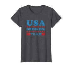 Tee Shirt -  Independence Day Shirt USA Drinking Team Funny Beer Gift Tee Wowen - $19.95+