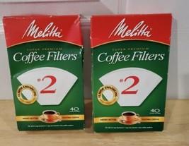 Melitta Super Premium Cone Coffee Filters, White, #2, 40-Count X2 (80 Fi... - $7.84