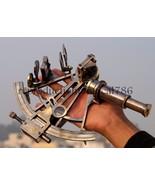 Vintage Brass Navigation Sextant Nautical Survey Instrument Astrolabe Se... - $65.00