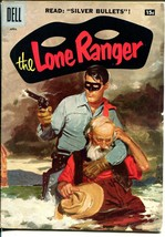 Lone Ranger #106 1957-Dell-painted cover-Silver Bullets-15¢ variant-VG/FN - $94.58