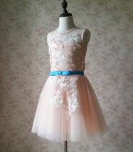 Blush Sleeveless Lace Tulle Flower Girl Dress Toddler Blush Princess Dress NWT image 4