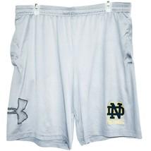 Under Armour 1306443 Men's Loose HeatGear Grey Notre Dame Football Shorts XL