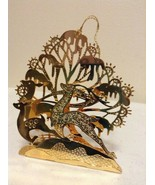 """Danbury Mint - 1989 Gold Christmas Ornament -  """"Deer in the Forest"""" (A7) - $12.95"""