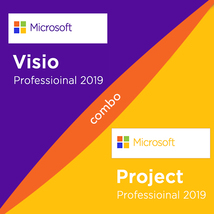 Microsoft Visio 2019 Professional & Project Professional 2019 Combo Keys - $28.49