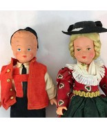 "Lot Figure Vintage Westo Doll Native Costume Germany 8 1/2"" Tall Rare - $12.99"