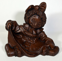 """6"""" Set 3 Vintage Red Mill Statues Raggedy Ann Andy Teddy Bear Home Decor - $56.99"""