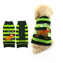 NACOCO Dog Sweater Cat Reindeer Xmas Christmas Sweaters Pet Winter Cloth... - $12.86