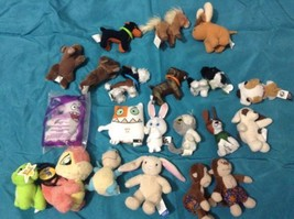 McDonalds Neopets clips LOT mini Plush the cat, dog build a bear stuffed... - $5.00