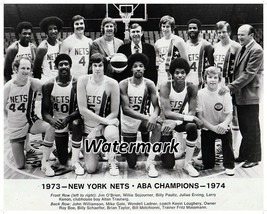 1973 - 74 ABA Champion  New York Nets Team Picture Dr. J 8 X 10 Photo Picture - $5.99
