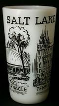 Vintage Federal Glass Salt Lake City Souvenir Milkglass Tumbler - $5.93