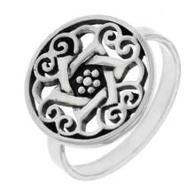 925 Sterling Silver Die-Cut David Star Ring » R110 - $14.99