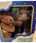 Crown Jewlz Kidz Story Book  And Plush Deer, Moon So Bright New In Box - $19.39