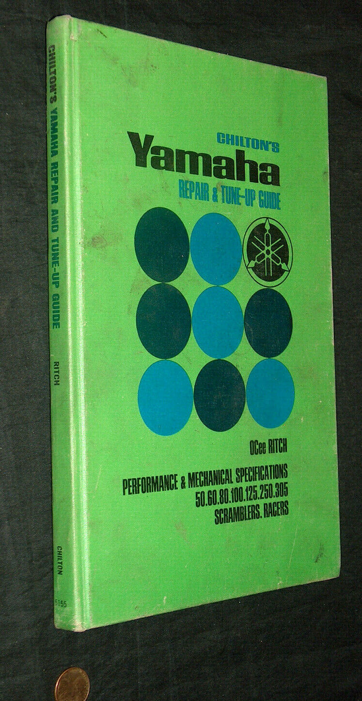 Chilton Yamaha Motorcycle Repair Tune Up Guide Manual OCee Ritch 2nd Print 1969 - $13.74