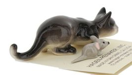 Hagen Renaker Miniature Cat Gray Crouching with Mouse Ceramic Figurine image 7