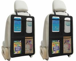 Kick Mat Auto Seat Back Protectors + 4 Large Organizer Pockets, Waterpro... - $26.17